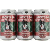 Red Lodge Ales Beer, Jack's 90 Scottish Ale, 6 Pack