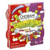 Chobani Yogurt, Greek, Low Fat, Strawnana & Verryberry