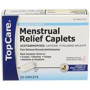 TopCare Maximum Strength Menstrual Relief Acetaminophen - Pain Reliever, Caffeine - Diuretic, Pyrilamine Maleate - Antihistamine Caplets