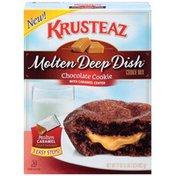 Krusteaz Molten Deep Dish Chocolate Cookie with Caramel Center Cookie Mix