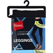 Hanes Leggings, Black, Large