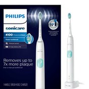 Philips Sonicare ProtectiveClean 4100 Plaque Control, Rechargeable electric toothbrush with pressure sensor, White Mint HX6817/01
