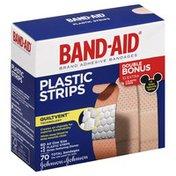 Band-Aid Adhesive Bandages, Plastic Strips, All One Size, Double Bonus