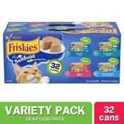 Purina Friskies Pate Wet Cat Food Variety Pack, Seafood Favorites