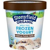 Stonyfield Organic Whole Milk Vanilla Fudge Swirl Frozen Yogurt