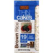 Suzie's Thin Cakes, Puffed, Brown Rice