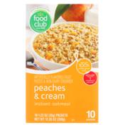 Food Club Peaches & Cream Instant Oatmeal