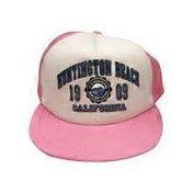 California Scene Red California Republic Bear Malibu Trucker Cap Hat Souvenir