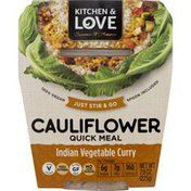 Kitchen & Love Quick Meal, Cauliflower, Indian Vegetable Curry