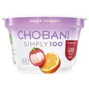 Chobani Simply 100 Tropical Citrus Blended Non-Fat Greek Yogurt