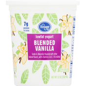 Kroger Yogurt, Lowfat, Blended Vanilla