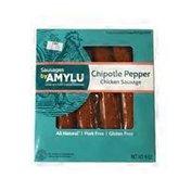 Amylu Smoked Chicken Sausage, Chipotle Pepper