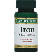 Nature's Bounty Iron, 65 mg, Tablets