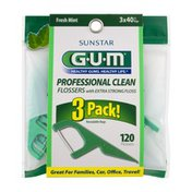 GUM Professional Clean Flossers Fresh Mint - 120 CT
