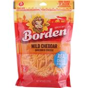 Borden Shredded Cheese, Mild Cheddar