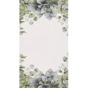 CR Gibson Guest/Dinner Napkins, Succulents, 3-Ply