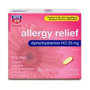 Rite Aid Allergy Relief Diphenhydramine HCl Liquid Softgel Capsules
