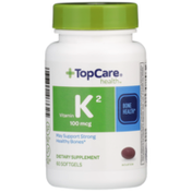 TopCare Vitamin K2 100 Mcg May Support Strong Healthy Bones Dietary Supplement Softgels