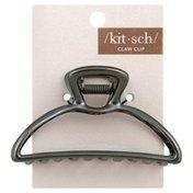 Kit Sch Claw Clip, Open Shape, Hematite