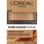 L'Oreal Pure-Sugar Scrub, Smooth & Glow