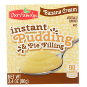 Our Family Banana Cream Instant Pudding & Pie Filling