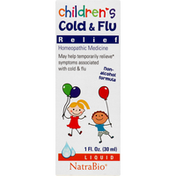 NatraBio Cold & Flu Relief, Children's, Liquid