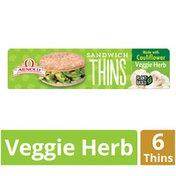Arnold Vegetable Herb Cauliflower Sandwich Thins Rolls