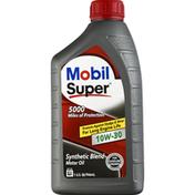 Mobil Motor Oil, 10W-30, Synthetic Blend