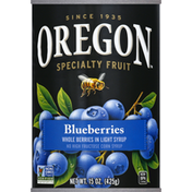 Oregon Whole Berries, in Light Syrup, Blueberries