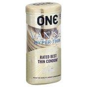 One Condoms, Lubricated Latex, Hyper-Thin