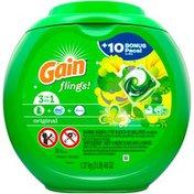 Gain Original Gain flings! Liquid Laundry Detergent Pacs, Original