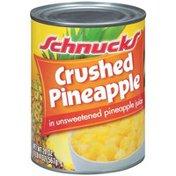 Schnucks In Unsweetened Pineapple Juice Crushed Pineapple