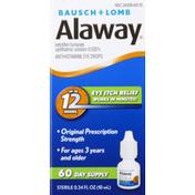 Alaway Eye Drops, Antihistamine