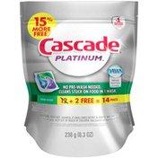 Cascade Platinum ActionPacs Dishwasher Detergent Fresh Scent 14 Ct  Dish Care