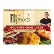 Robert Irvine Foods Gourmet Crab Cakes - 2 PKq