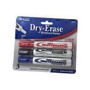 Bazic Assorted Color Chisel Tip Dry-Erase Markers