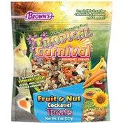 Brown's Tropical Carnival Gourmet Fruit & Nut Cockatiel Treats
