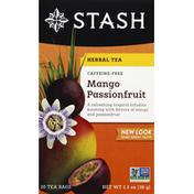 Stash Tea Herbal Tea, Mango Passionfruit, Caffeine-Free, Bags