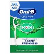 Oral-B Burst Of Scope Floss Picks, Fresh Mint