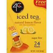 4C Foods Iced Tea Mix, Sugar Free, Natural Lemon