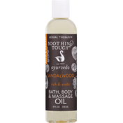 Soothing Touch Bath, Body & Massage Oil, Sandalwood