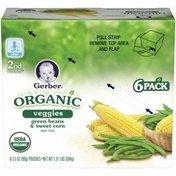Gerber Organic 2 Nd Foods Veggies Green Beans & Sweet Corn Baby Food