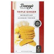 Dewey's Bakery Dewey's Bakery Triple Ginger Moravian Cookies Thins