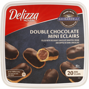 Delizza Patisserie Mini Eclairs, Ghirardelli Double Chocolate