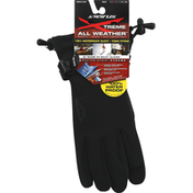 Seirus Gloves, All Weather, Gauntlet, Black, Medium, Mens