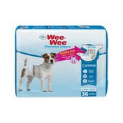Four Paws Small Wee-Wee Disposable Dog Diapers With Foam-Fit Tail Hole
