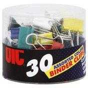 Oic Binder Clips, Assorted Colors