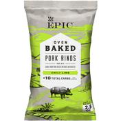 Epic Chili Lime Oven Baked Pork Rinds, Keto Friendly, Paleo Friendly