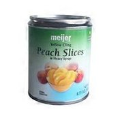 Meijer Yellow Cling Peach Slices in Heavy Syrup