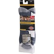 Dickies Socks, White, Industrial Strength, Mid-Weight, Men's